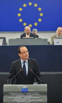 Francois HOLLANDE - President of the French Republic and Martin SCHULZ - EP President